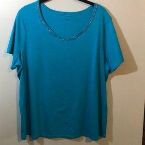 Coldwater Creek teal shirt
